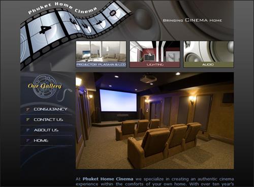Phuket Home Cinema - Web Design And Development